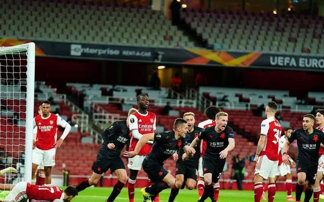 Arsenal kassiert spät den Ausgleich gegen Slavia Prag