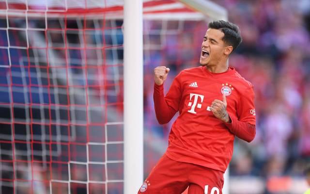 Philippe Coutinho erzielte beim Sieg gegen Köln seinen ersten Treffer für den FC Bayern