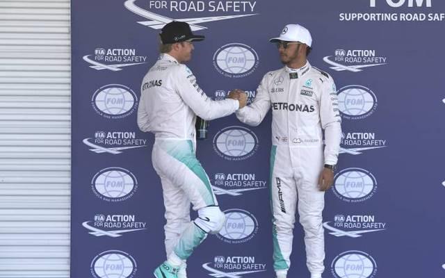 Nico Rosberg (l.) und Lewis Hamilton fuhren jahrelang gemeinsam für Mercedes in der Formel 1