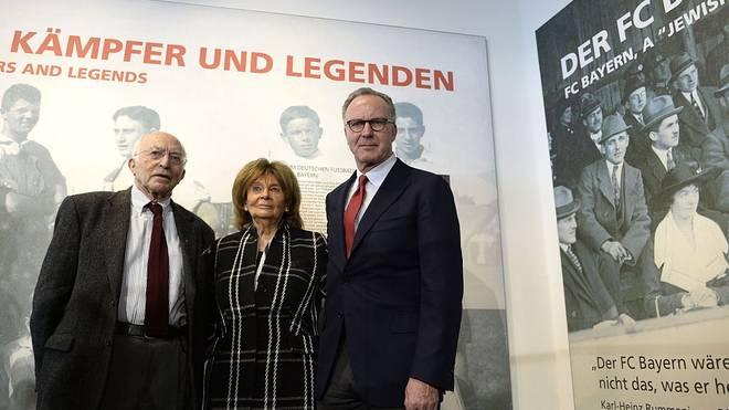 Uri Siegel, Charlotte Knobloch und Karl-Heinz Rummenigge 2015