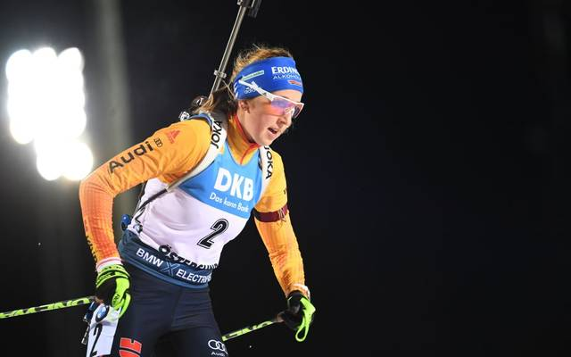 Franziska Preuß war die deutsche Schlussläuferin bei der Biathlon-Staffel in Östersund