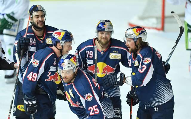 Der EHC Red Bull München gastiert in Ingolstadt