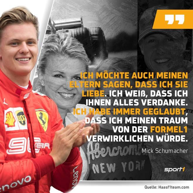 Mick Schumacher bedankt sich emotional bei seinen Eltern