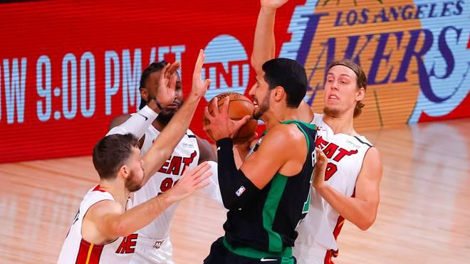 Enes Kanter verlor mit den Boston Celtics auch das zweite Spiel der Serie gegen die Miami Heat