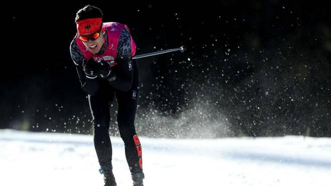 Elias Keck sicherte sich Silber im Skilanglauf über 10 km klassisch