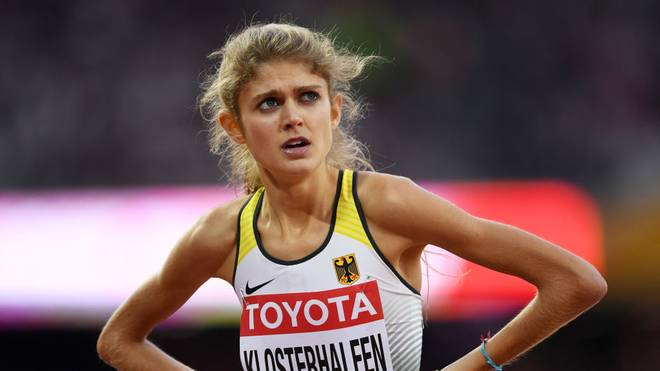 LONDON, ENGLAND - AUGUST 04:  Konstanze Klosterhalfen of Germany competes in the Women's 1500 metres during day one of the 16th IAAF World Athletics Championships London 2017 at The London Stadium on August 4, 2017 in London, United Kingdom.  (Photo by Shaun Botterill/Getty Images)