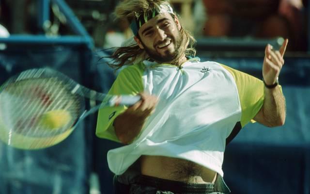 Die Haare waren eine Perücke: Andre Agassi in den frühen Neunzigern