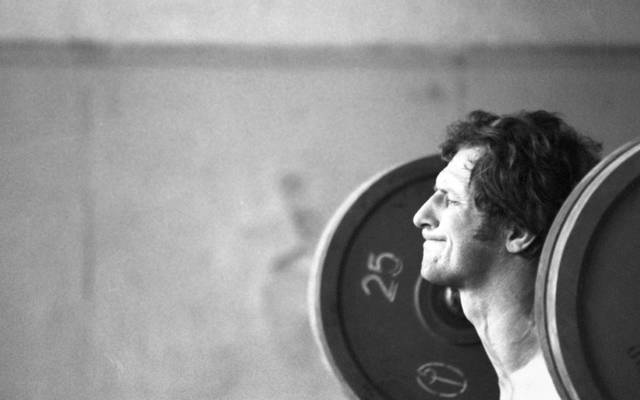 Auch an der Hantel stark: Sergej Nowikow, Judo-Olympiasieger 1976 in Montreal