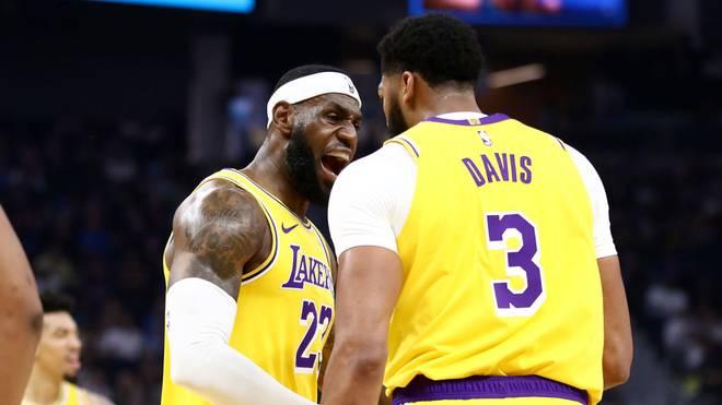 LeBron James (l.) und Anthony Davis glänzten für die Los Angeles Lakers