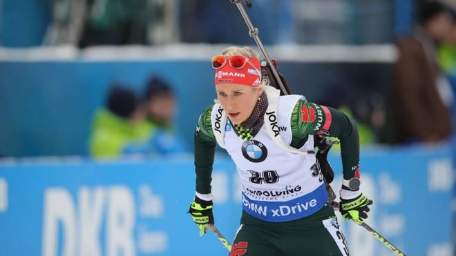 Karolin Horchler und die deutsche Staffel haben mit dem Sieg nichts zu tun