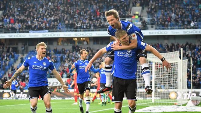 Fabian Klos erzielte gegen Hannover 96 sein viertes Saisontor