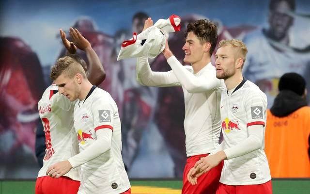 Timo Werner (l.) will mit RB Leipzig jetzt auch Meister werden
