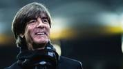 FRANKFURT AM MAIN, GERMANY - NOVEMBER 19: (EDITORS NOTE: Image has been digitally enhanced.) Head coach Joachim Loew of Germany is smiling prior to the UEFA Euro 2020 Qualifier between Germany and Northern Ireland at Commerzbank Arena on November 19, 2019 in Frankfurt am Main, Germany. (Photo by Simon Hofmann/Bongarts/Getty Images)