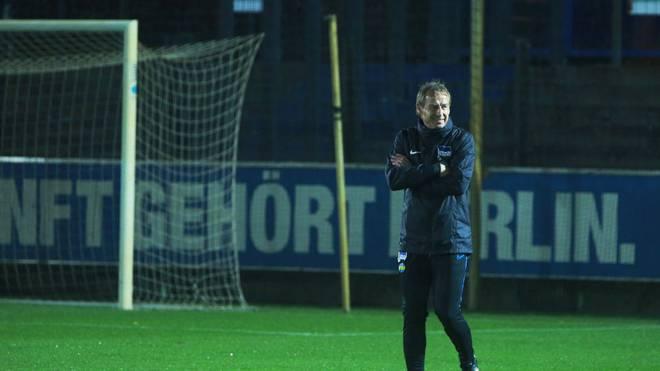 Jürgen Klinsmann ist seit Ende November Hertha-Trainer