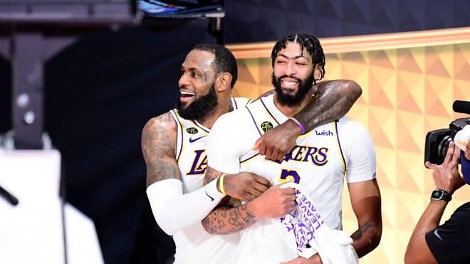 Anthony Davis feierte zusammen mit LeBron James den NBA-Titel
