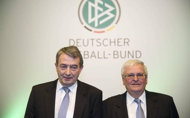 Wolfgang Niersbach (l.) war als DFB-Präsident Nachfolger von Theo Zwanziger