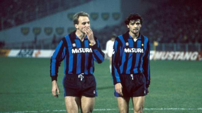 Karl Heinz Rummenigge und Alessandro Altobelli waren bei Inter Mailand Teamkameraden