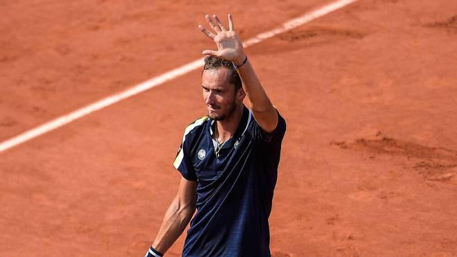 Daniil Medvedev steht im Viertelfinale der French Open