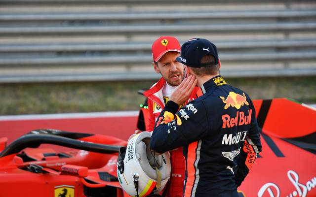 Max Verstappen (r.) und Sebastian Vettel sind Konkurrenten in der Formel 1