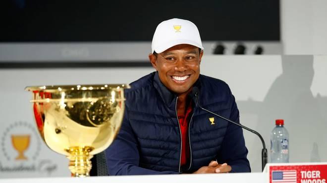 Tiger Woods spielte als Teamkapitän selbst mit