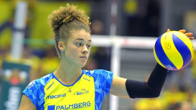 Schwerins Kimberly Drewniok  glänzte gegen Straubing