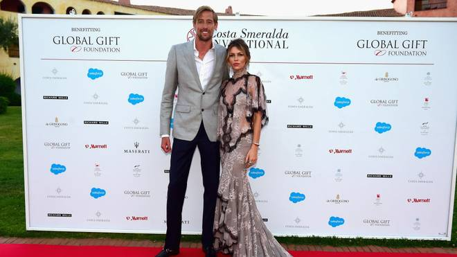 OLBIA, ITALY - JUNE 17:  Abbey Clancy and Peter Crouch attend The Costa Smeralda Invitational Gala Dinner at Cala di Volpe Hotel - Costa Smeralda on June 17, 2017 in Olbia, Italy.  (Photo by Tony Marshall/Getty Images for Professional Sports Group)