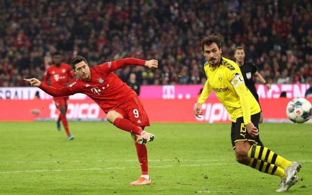 Robert Lewandowski und Mats Hummels, FC Bayern - Borussia Dortmund