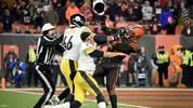 Myles Garrett (r.) schlug Mason Rudolph mit dessen Helm im Gesicht
