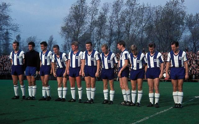 Hertha BSC musste mit dieser Mannschaft nach der Saison 1964/65 zwangsabsteigen