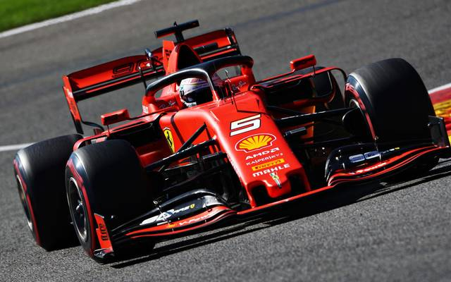 Sebastian Vettel war im ersten Training in Spa der Schnellste