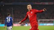 Robert Lewandowski traf für den FC Bayern zur frühen Führung gegen Schalke
