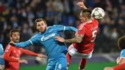 Zenit St. Petersburg gegen Benfica Lissabon