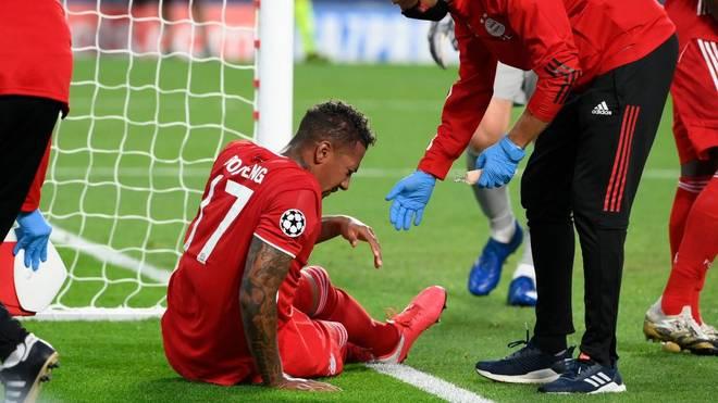 Jérôme Boateng wurde gegen PSG während der ersten Hälfte ausgewechselt