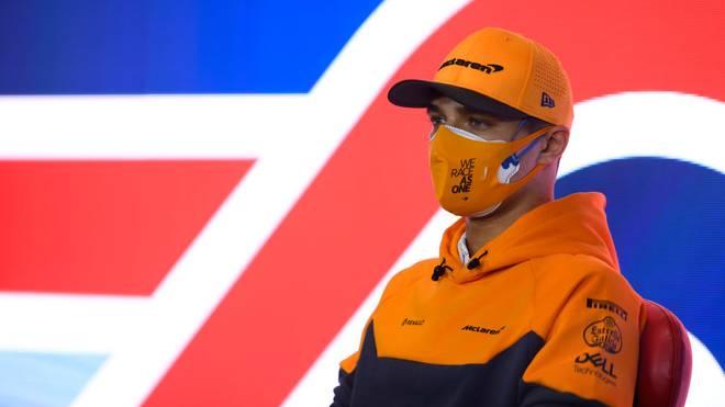Lando Norris fährt in Silverstone mit einem besonderen Helm