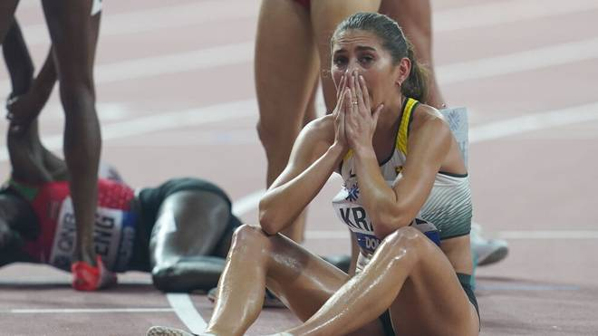 Bei der WM in Doha 2019 holte Gesa Krause die Bronzemedaille