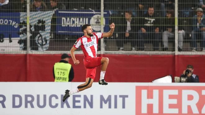Dave Gnaase erzielte gegen 1860 München das erste Tor