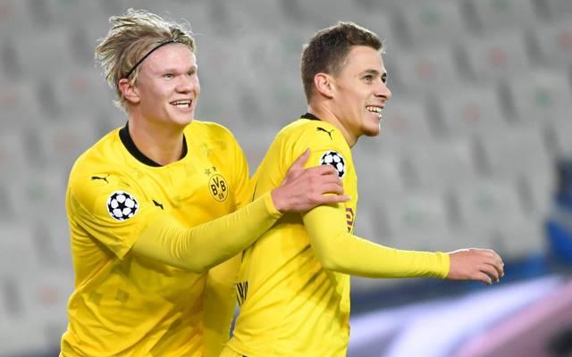Erling Haaland (L) und Thorgan Hazard erzielten die Treffer für Borussia Dortmund
