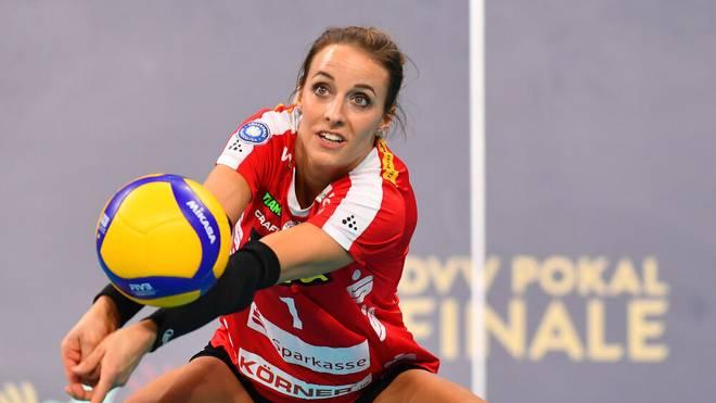 Lenka Dürr gewann mit Dresden im Februar den Pokal