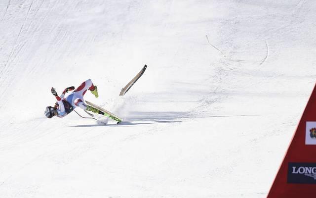 Urs Kryenbühl stürzte bei der Streif 2021 beim Zielsprung