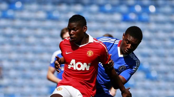 Paul Pogba als Jugendspieler bei Manchester United