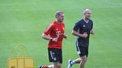 Arjen Robben hält sich beim FC Bayern fit