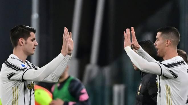 Joker Ronaldo (r.) beglückwünscht Doppelpacker Morata