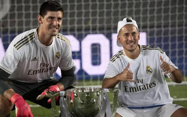 Thibaut Courtois und Eden Hazard sind seit 2019 Teamkollegen bei Real Madrid