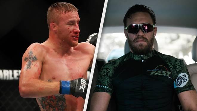 Justin Gaethje (l.) könnte der nächste Gegner von Conor McGregor werden