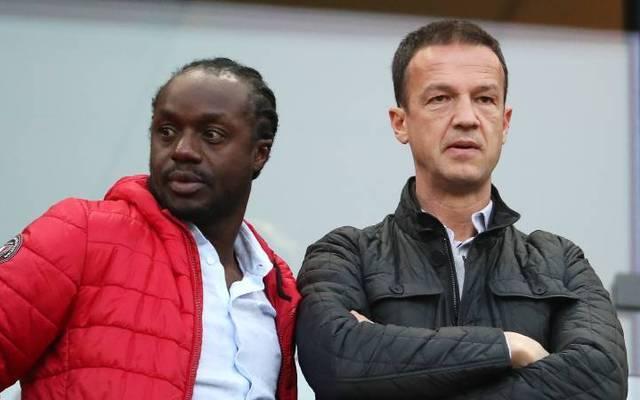 Chefscout Ben Manga mit Eintracht-Sportvorstand Fredi Bobic