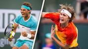 Wenn der Deutsche gut serviert, kann er auch Nadal Probleme machen. Im ersten Duell in Indian Wells 2016 nahm er ihm als Teenager gleich einen Satz ab, bei den Australien Open 2017 zwang er ihn sogar in einen entscheidenden fünften Satz. Selbst auf Nadals Lieblingsbelag machte Zverev 2018 in Rom ein tolles Match. Eine Regenunterbrechung war damals Nadals Rettung