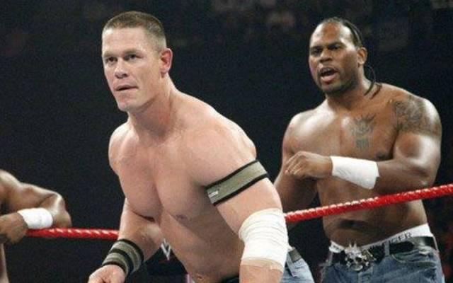 John Cena (l.) war bei WWE einst mit Shad Gaspard verbündet