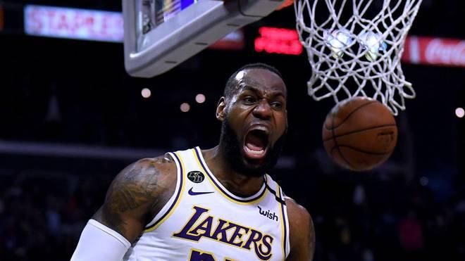 LeBron James muss mit den Lakers aktuell aufgrund der Corona-Pandemie pausieren