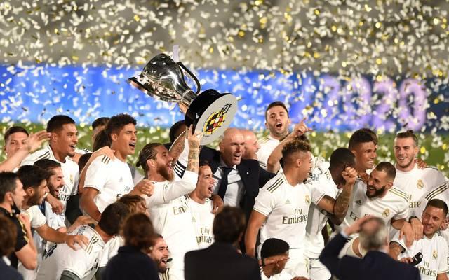 Sergio Ramos hat sich mit Real Madrid zum spanischen Meister gekürt