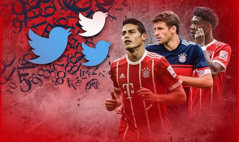 """""""Dem FC Bayern steht der Wechsel von James gut zu Gesicht, national wie international"""", jubelte Vorstandsboss Karl-Heinz Rummenigge. Mit der Verpflichtung von James Rodriguez ist den Münchnern zumindest auf der Social-Media-Ebene ein Coup gelungen. SPORT1 zeigt die Top Ten des Social-Media-Rankings"""